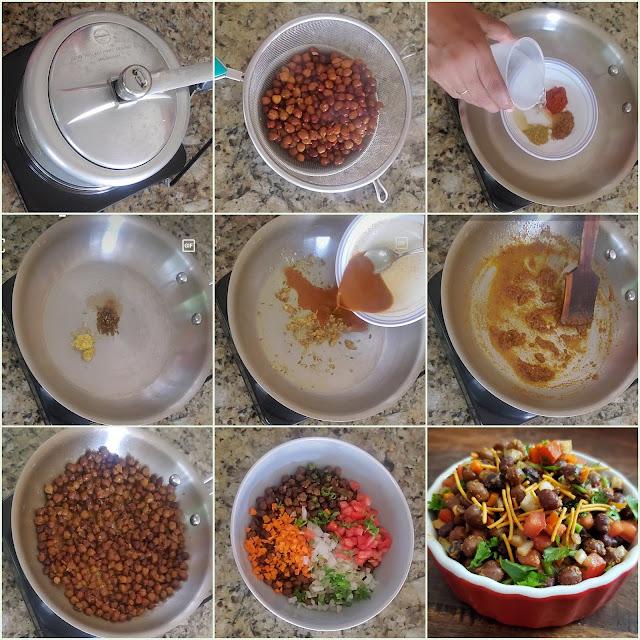 images of Kala Chana Chaat / Black Chickpea Salad / Chana Chaat Recipe - Chaat Recipes