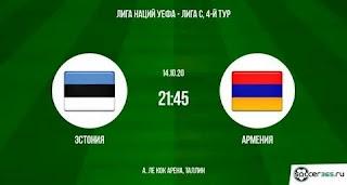 Эстония — Армения: прогноз на матч, где будет трансляция смотреть онлайн в 21:45 МСК. 14.10.2020г.