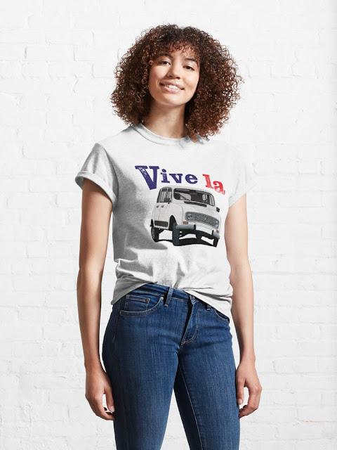 Vive la Renault 4 t-shirt