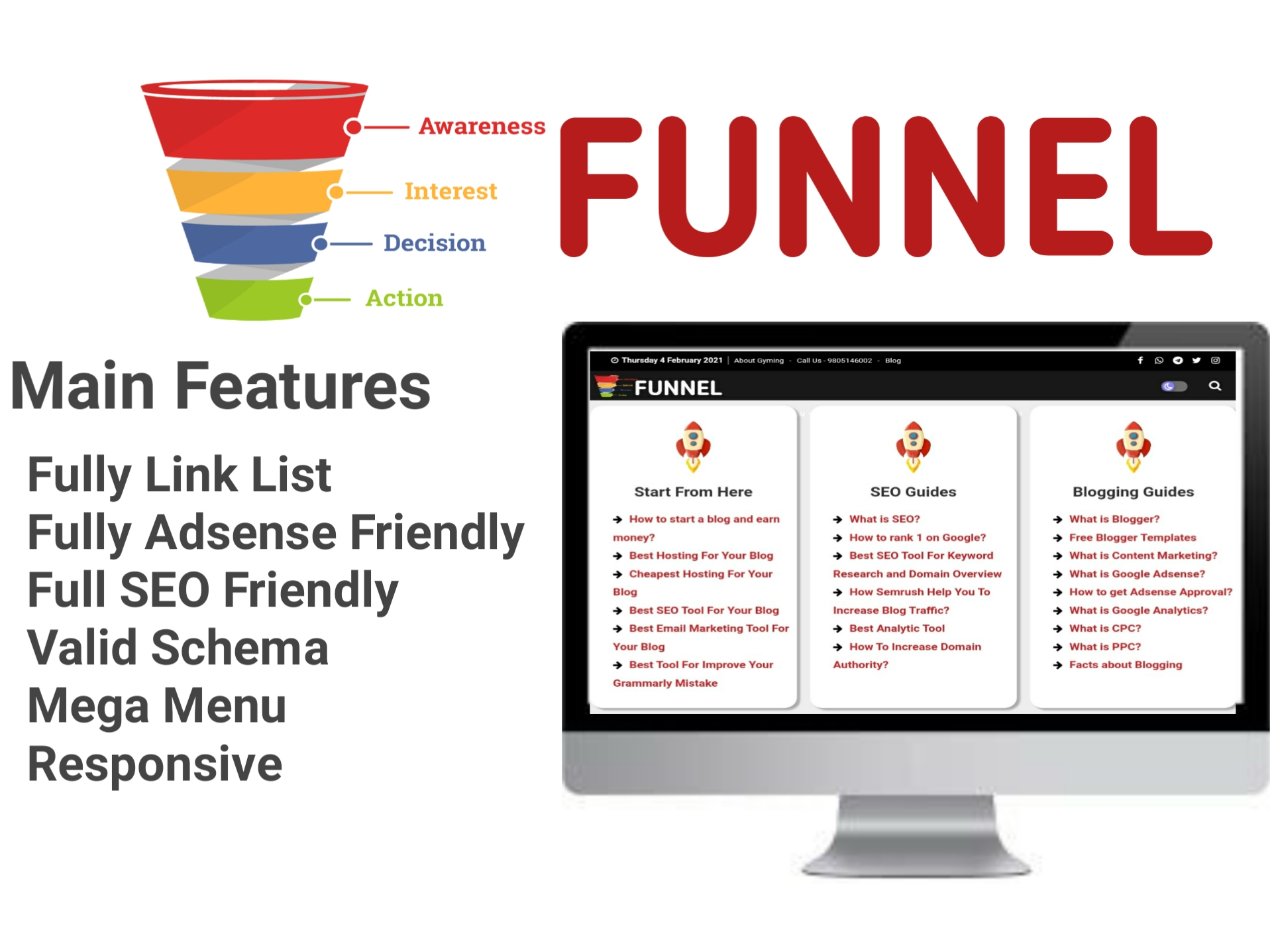 Funnel Blogger Template - Responsive Blogger Template
