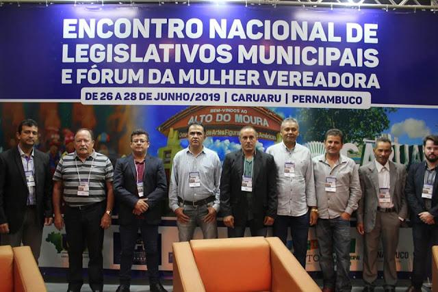 Vereadores do município de Panelas participaram do Encontro Nacional de Legislativos Municipais