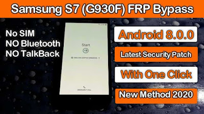 Samsung S7 (SM-G930F)  FRP Bypass Google Account Remove Android  8.0 New Method