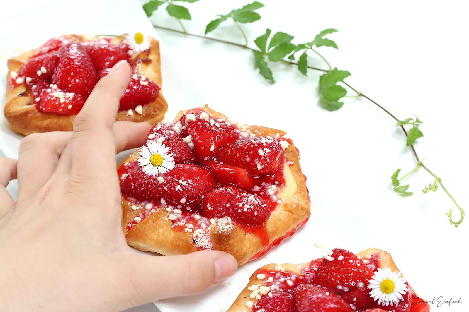 Erdbeerplunder-Rezept