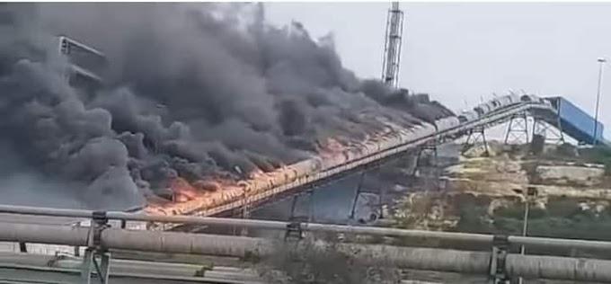 Se incendia una procesadora minera propiedad de OCP en El Jadida.