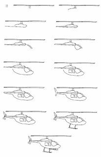 طريقة رسم الطائرة الهليكوبتر الحربية للاطفال بالصور