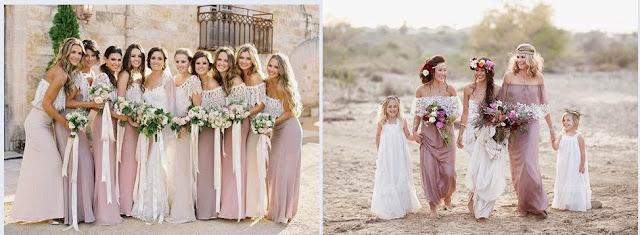 свадьба в стиле бохо платье подружки невесты фото