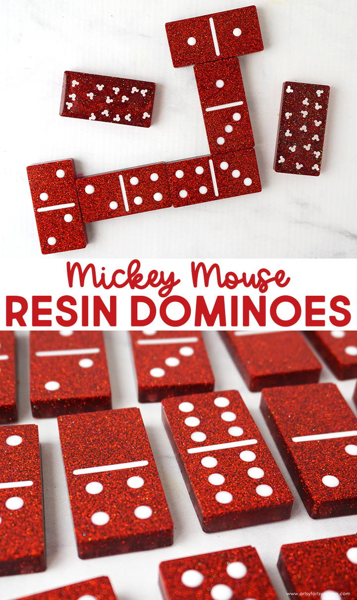 Mickey Mouse Resin Dominoes