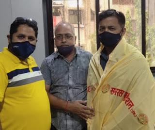 समरस फाउंडेशन तथा श्रमजीवी कामगार संगठन ने किया डॉ. प्रकाश जाधव का अभिनंदन   #NayaSaberaNetwork