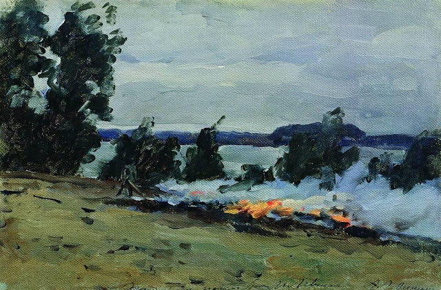 Исаак Ильич Левитан - Костры. 1880-е