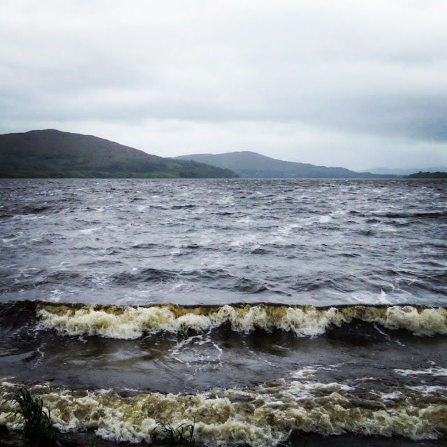Rough waters of Lough Gill in Ireland