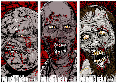 Zombies of The Walking Dead Screen Prints by Danny Miller - Well Zombie, RV Zombie & Beard Zombie