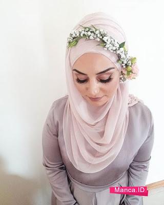 aksesoris kerudung Flower Crown