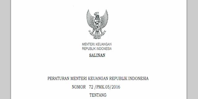 Permenkeu Nomor 72 /PMK.05/2016