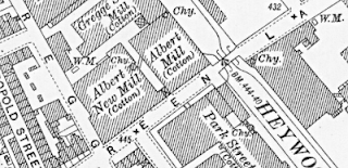 Albert New Mill, OS map, 1928.
