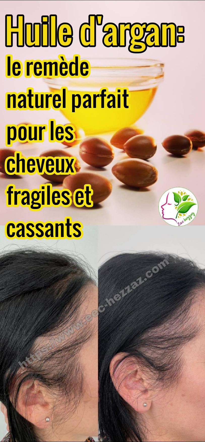 Huile d'argan: le remède naturel parfait pour les cheveux fragiles et cassants