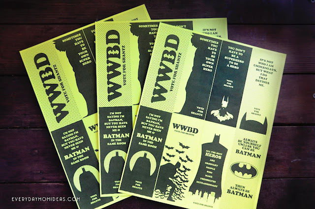 Batman School Bookmarks (FREE Printable)