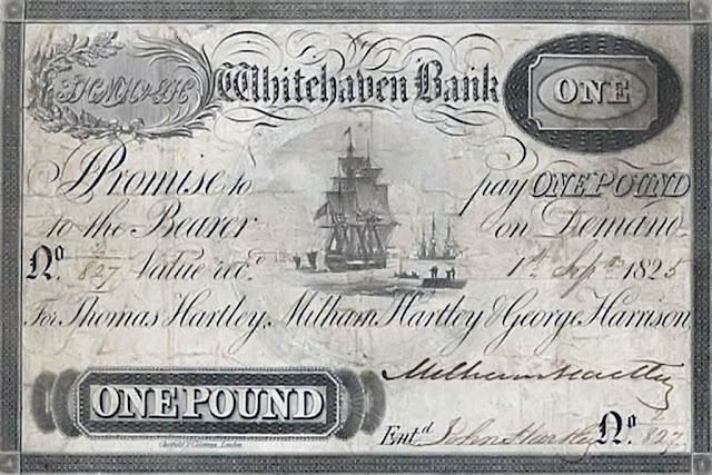 Whitehaven Bank One Pound Note, 1825