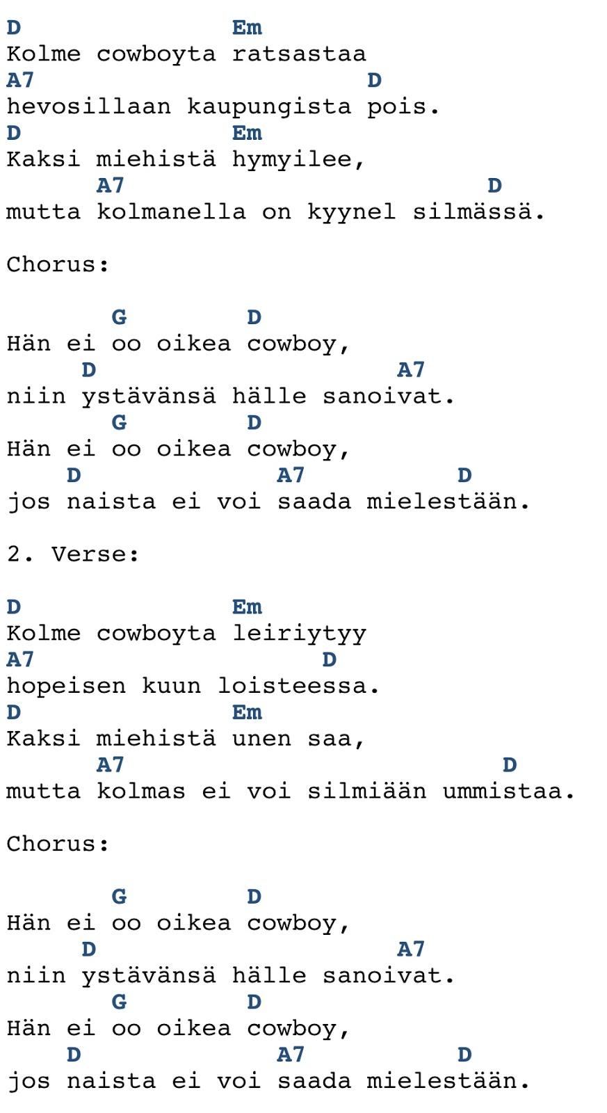 Kolme Cowboyta Sanat