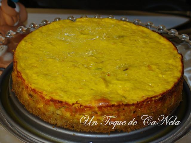 Pastel De Zanahoria, Puerro Y Champiñones Con Cobertura De Queso