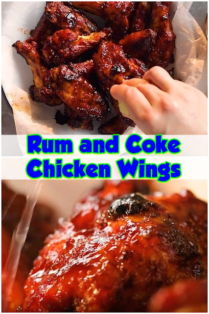 #Rum #and #Coke #Chicken #Wings