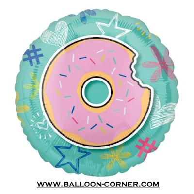 Balon Foil Bulat Motif DONAT