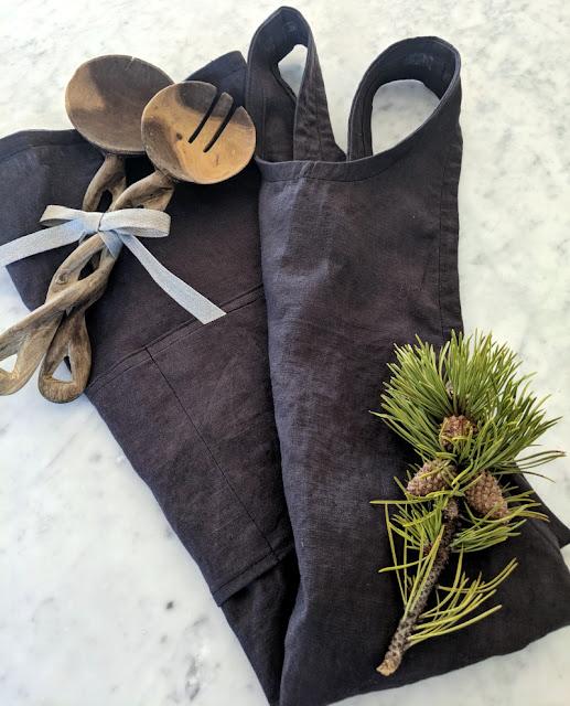 diy linen apron