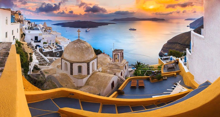 1. Santorini, Hellas (Greece) - Top 10 Mediterranean Destinations
