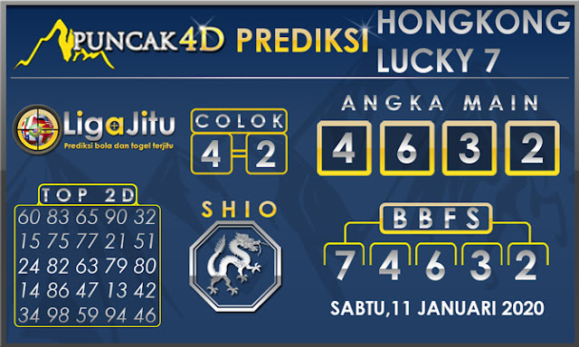 PREDIKSI TOGEL HONGKONG LUCKY7 PUNCAK4D 11 JANUARI 2020