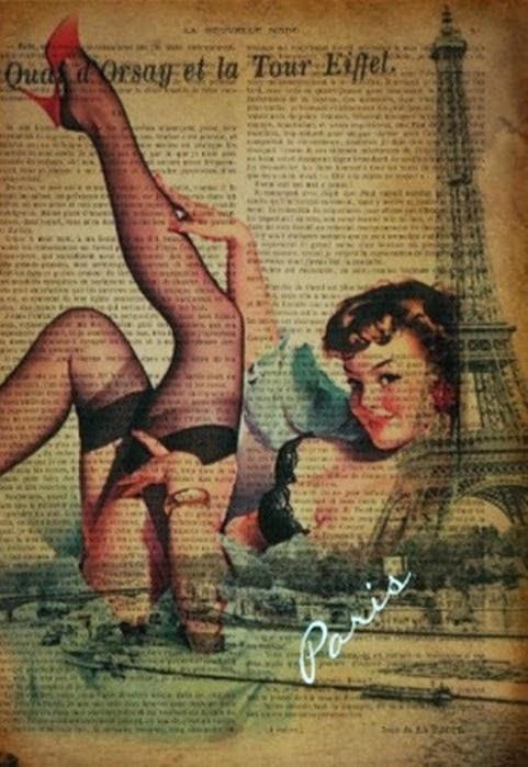 Carteles Vintage sobre Periódicos para Imprimir Gratis.
