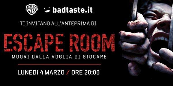 clicca qui per ottenere 2 biglietti gratis per l'anteprima del film Escape Room