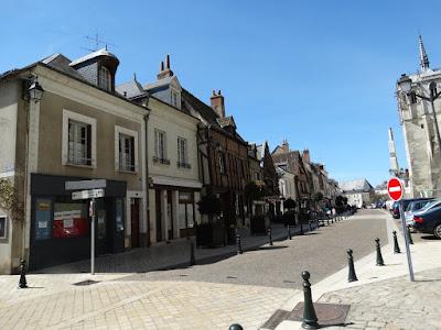 looking along Place Michel Debré in Amboise