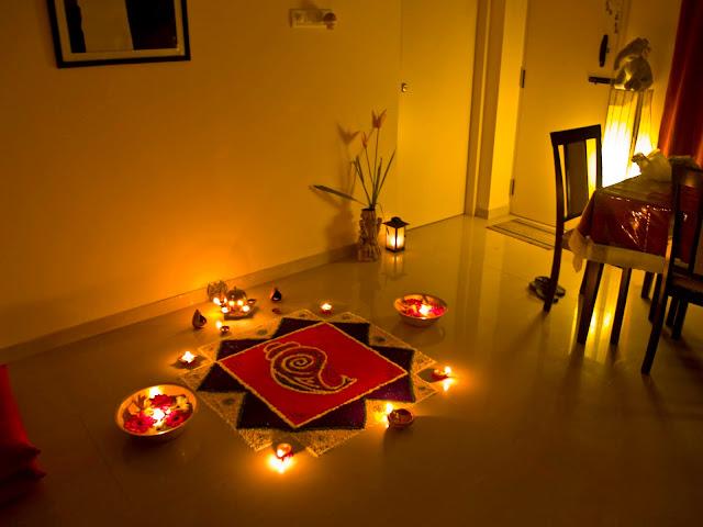 gudi padwa rangoli of lights