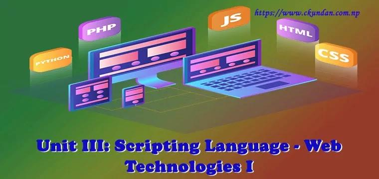 Scripting Language - Web Technologies I