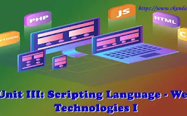 Unit III: Scripting Language - Web Technologies I