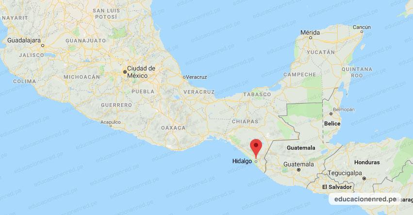 Temblor en México de Magnitud 4.2 (Hoy Martes 28 Julio 2020) Sismo - Epicentro - CD. Hidalgo - Chiapas - CHIS. - SSN - www.ssn.unam.mx