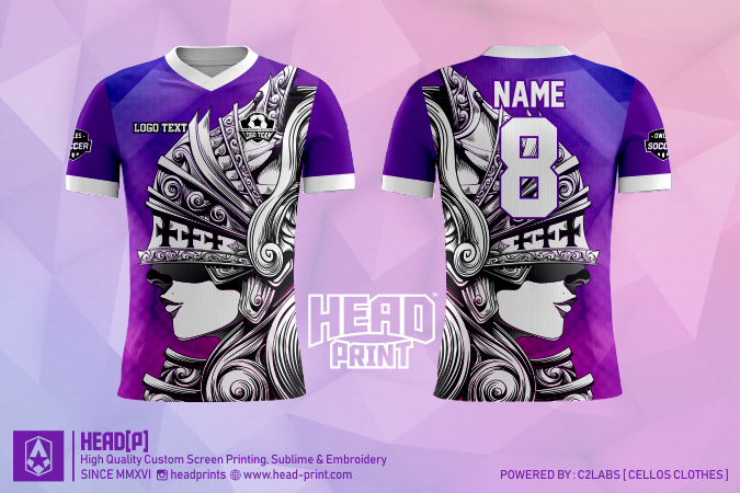 Knight Helmet Jersey Full Print Custom - Head Print Jersey