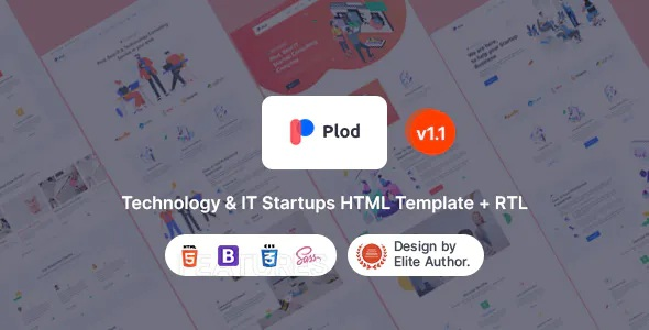 Best Technology and IT Startup HTML Template