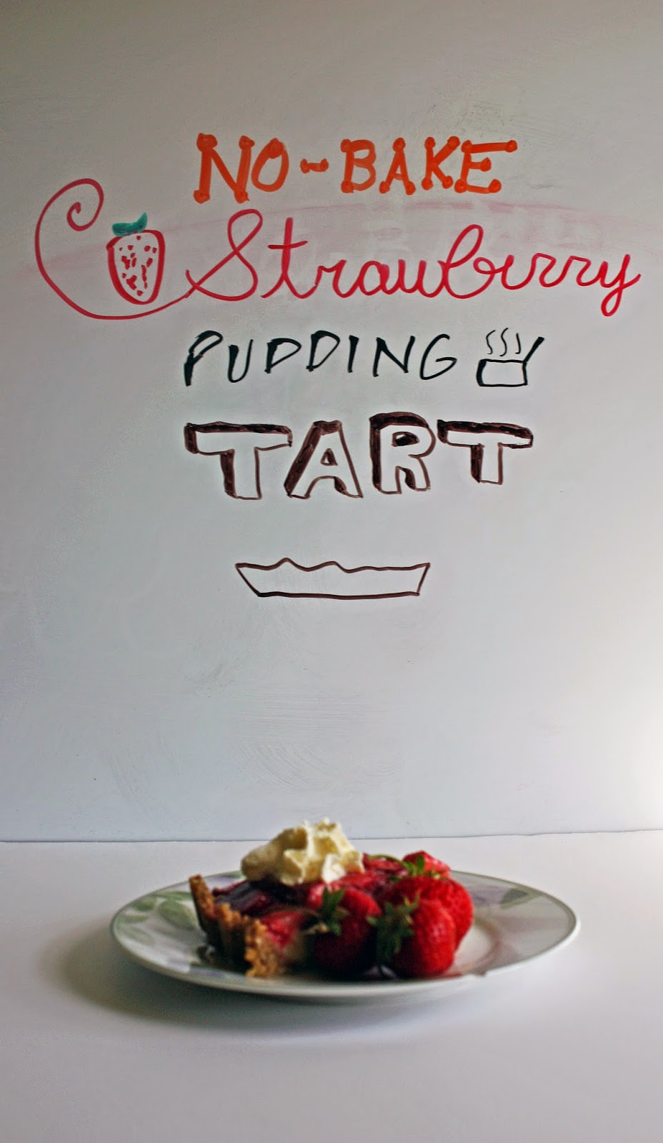 no bake strawberry pudding tart
