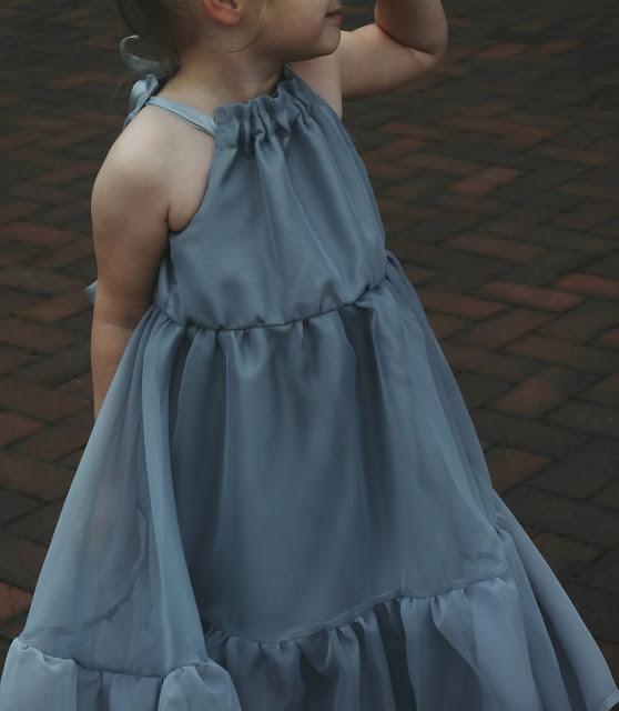 suknia balowa - z woalu