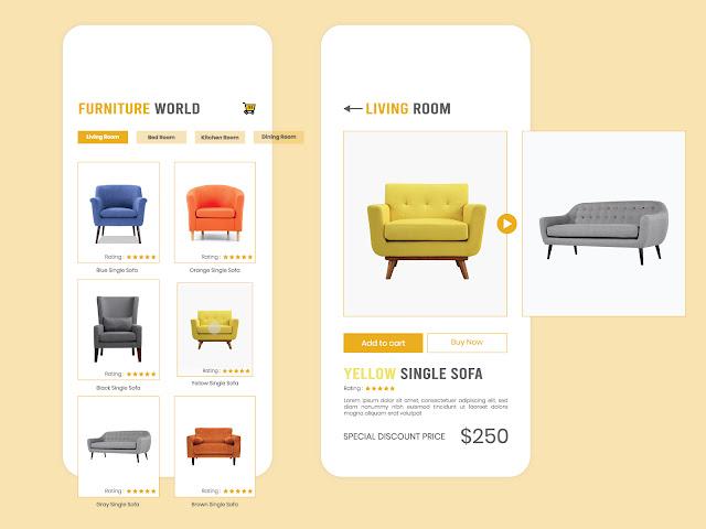 Furniture UI Concept