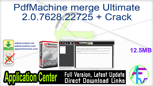 PdfMachine merge Ultimate 2.0.7628.22725 + Crack