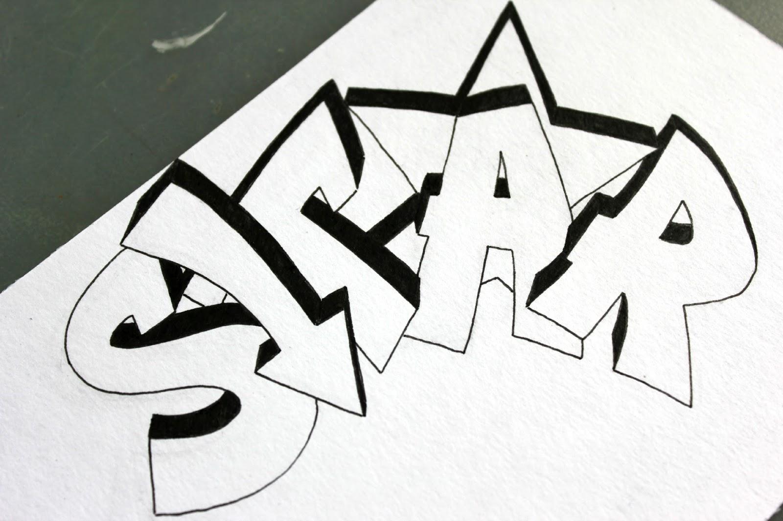 наверняка рисовать граффити на бумаге карандашом картинками они
