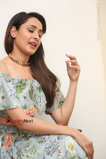 Actress Pragya Jaiswal Stills in Floral Dress at turodu Interview  0145.JPG