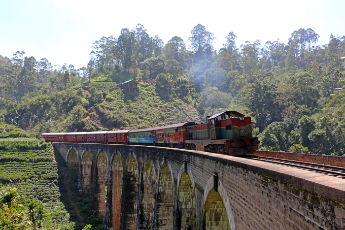 Zug auf der Nine Arches Bridge