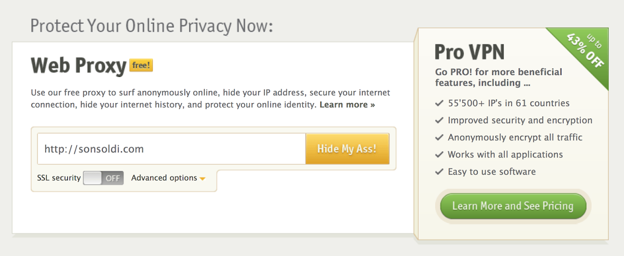 Hide my ass, proxy online veloce e comodo - Son Soldi
