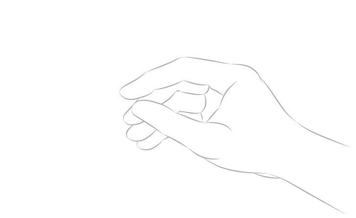 Tangan memegang sumpit gambar lengan tampilan samping