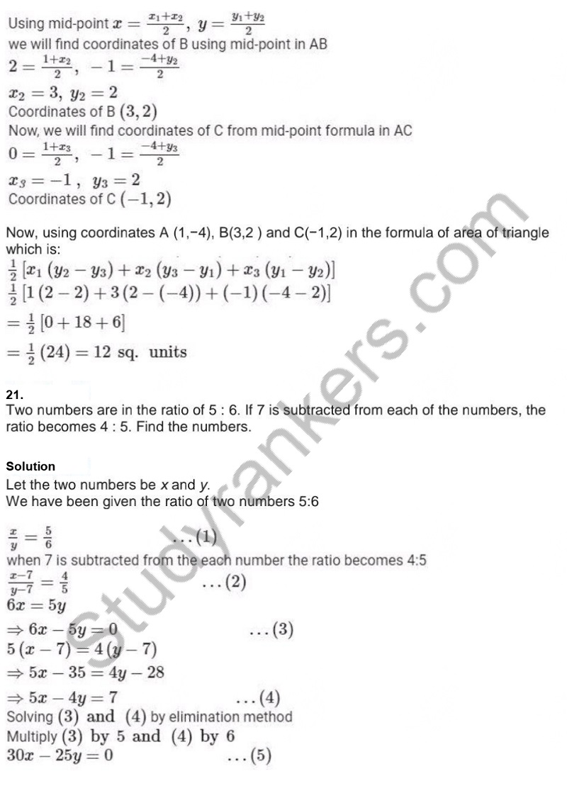 Previous Year Question Paper for CBSE Class 10 Maths 2019 Part 18