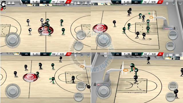 Stickman Basketball 2017 Apkterbaru For Android v1.1.1 Mod Unlocked Full Version