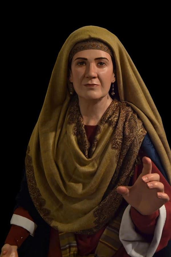 La Borriquita de Manzanilla incorpora al misterio la imagen de una mujer hebrea, obra del escultor local Israel López