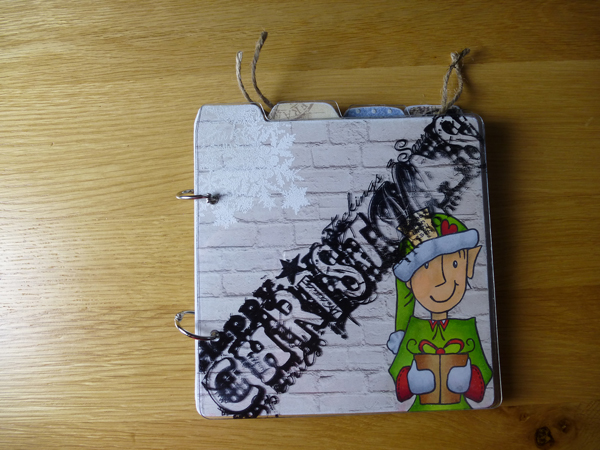 Christmas MDF book using Woodware products